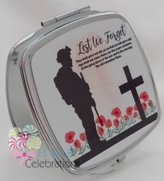 Lest We Forget Compact Mirror